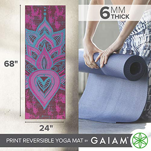 Gaiam Yoga Mat Premium 6mm Print Tiendamia Com