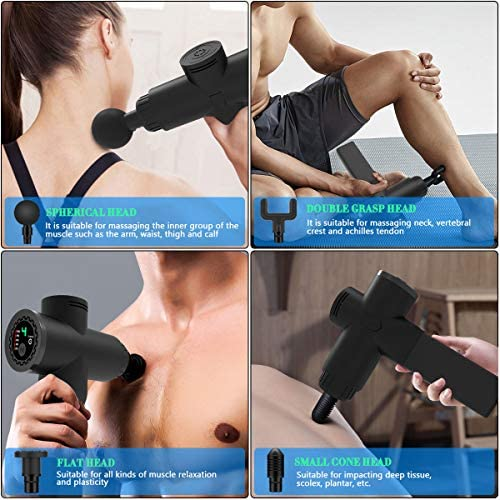 OBOR Deep Tissue Massage Gun Electric Full Body Handheld Muscle Percussion Massager 5 Speed Adjustable Quiet & Powerful Device for Personal Health Care 51hhfmi0PQL