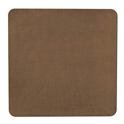 House, Home and More Skid-Resistant Carpet Indoor Area Rug Floor Mat - Toffee Brown - 3 Feet X 3 Feet (Rug Kitchen Square)