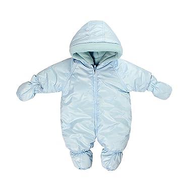 69c7dfcbc9 Amazon.com: Newborn Baby Boy Girl Hooded Quilted Pram Warm Down ...