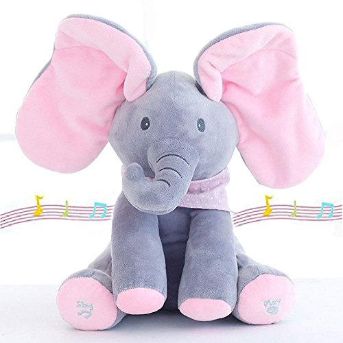Plush Toy for Baby - Peek-a-Boo Elfie the Elephant Animated