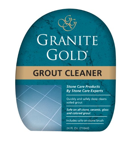 Granite Gold Grout Cleaner And Scrub Brush - Acid-Free Tile And Grout Cleaning For Dirt, Mildew, Mold - 24 Ounces by GG0371
