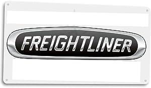 SRongmao Freightliner Truck Retro Logo Semi Dealer Repair Garage Decor Metal Tin Sign 16x12in