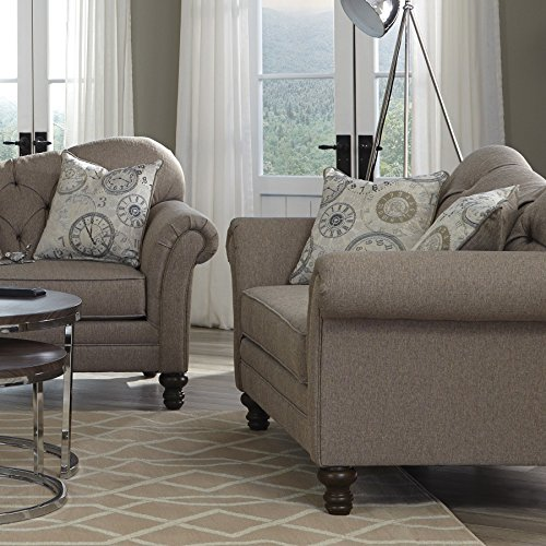 1PerfectChoice Carnahan Stone Grey Loveseat