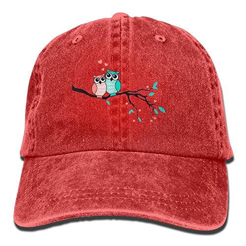 Summer Adult Pink Teal Couple Owl Cowboy Hat with Adjustable Fashion Design for Men & Women
