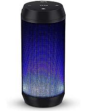 ELEHOT Altavoz Bluetooth Portatiles con Luz de 5 Modos Recargable USB Altavoces Bluetooth con Radio FM Inalambricos Potentes apoya TF Card/Memoria USB de 32G Altavoz Portatil Estereo