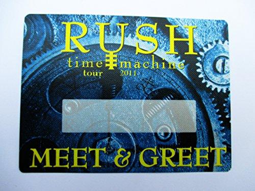 2011 Rush Satin Backstage Pass Time Machine Tour Meet & Greet Blue