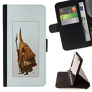 Momo Phone Case / Flip Funda de Cuero Case Cover - Asistente Viejo;;;;;;;; - Apple Iphone 5C