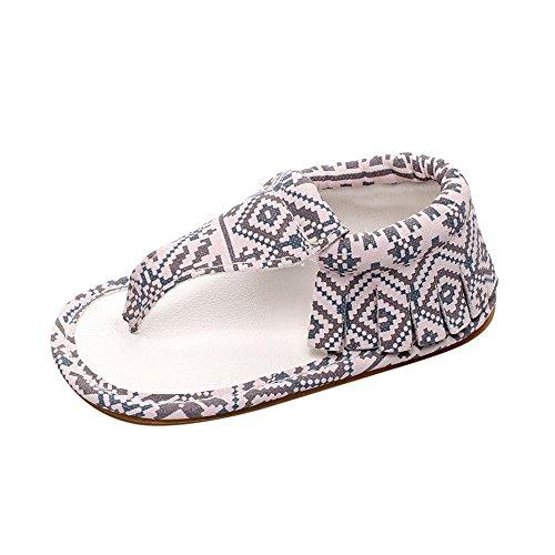 DingLong Babyschuhe, Mädchen Casual Quasten Sandalen Sommer Drucken Sole Krippe Hohl Schuhe Pink