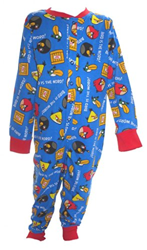 Angry Birds Little Boy's Blue All in One Sleepsuit Ages 5-6 Years