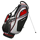 Powerbilt TPS Dunes 14-Way Black/Red Stand Golf Bag (Black/Red) For Sale