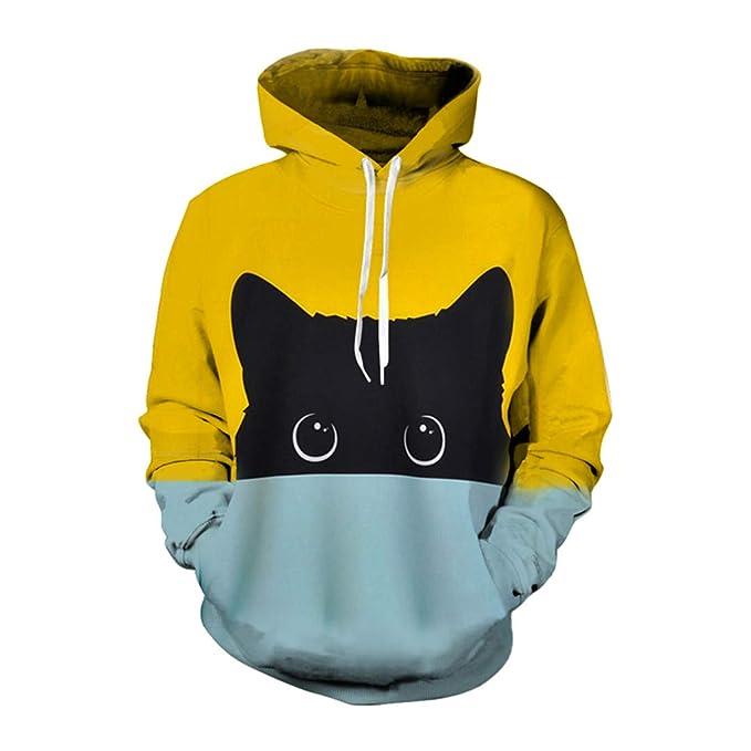 Amazon.com: Sudadera con capucha para hombre y mujer, diseño ...