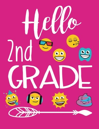 Hello 2nd Grade: Composition Notebooks Second Grade Girls (Back To School Composition Notebooks)(8.5 x 11)