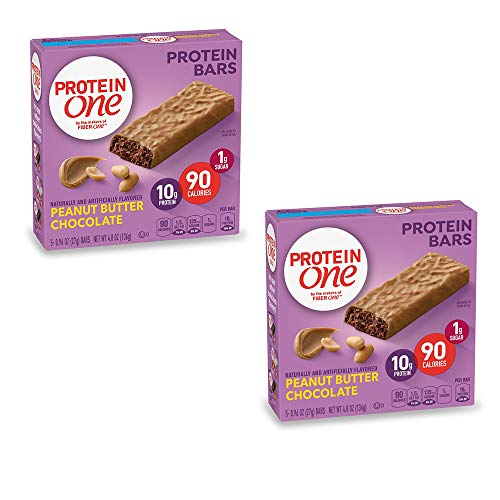 PROTEIN ONE 90 Calorie Protein Bar, Peanut Butter Chocolate, 4.8 oz(us) (Pack of 2)