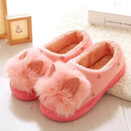 JaHGDU Women s Home Cotton Cute Slippers Indoor Keep Warm Casual Slippers Orange Mixed Color Personality Quality for Women