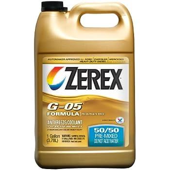 Zerex G-05 Antifreeze/Coolant, Ready to Use - 1gal (ZXG05RU1)