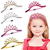 Baby Girl Rhinestone Crown Headbands Toddler Princess Tiara Crown Headband Set Hair Accessories for Birthday Party Shower Photograph
