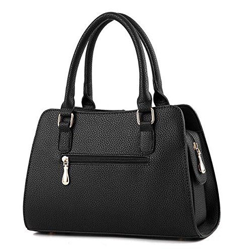 Satchel Todo Portátil Multifuncional Moda Capacidad Bolso Meaeo Bolsa De Match Nuevo Negro Bag Único Hombro Black Gran EA7qxX4