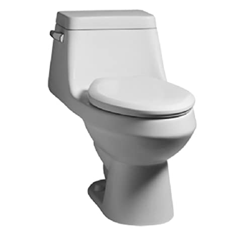 two in one toilet seat. American Standard 2862 056 020 Fairfield Elongated One Piece Toilet with  Seat White