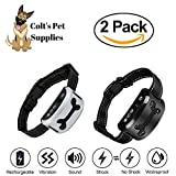 Bark Collar 2 Pack [Upgraded] | Anti-Barking Collar | Smart Chip | Beeps/Vibration/Shock Mode | For Small Medium and Large Dogs All Breeds Over 6 Lbs For Sale