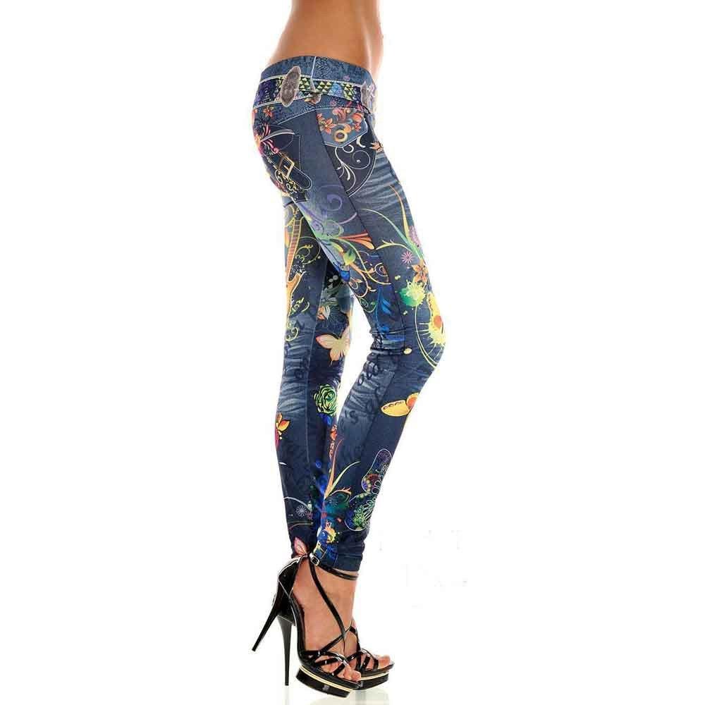 STRIR Cintura Baja Pantalones Jeans Mujer Elástico Flacos Vaqueros Leggings Push up Mezclilla Personalidad Pantalones