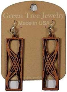 product image for Green Tree Jewelry Rectangular Elegance Earrings