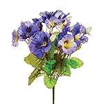 MARJON-FlowersFloristryWarehouse-Pansy-Purple-Flowers-30Cm