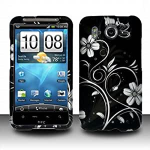 HTC Inspire 4G Accessory - Blossoming White Spring Flower Protective Hard Rubberized Case Cover Design for AT&T
