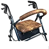 Crutcheze Faux Leather Rollator Walker Seat and Backrest Covers Designer Fashion Accessories Made in USA