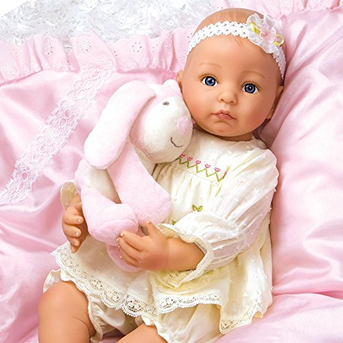 Paradise Galleries Reborn Baby Doll Bella, 19 inch Realistic Newborn Girl in GentleTouch Vinyl & Weighted Body, 5-Piece Doll Ensemble