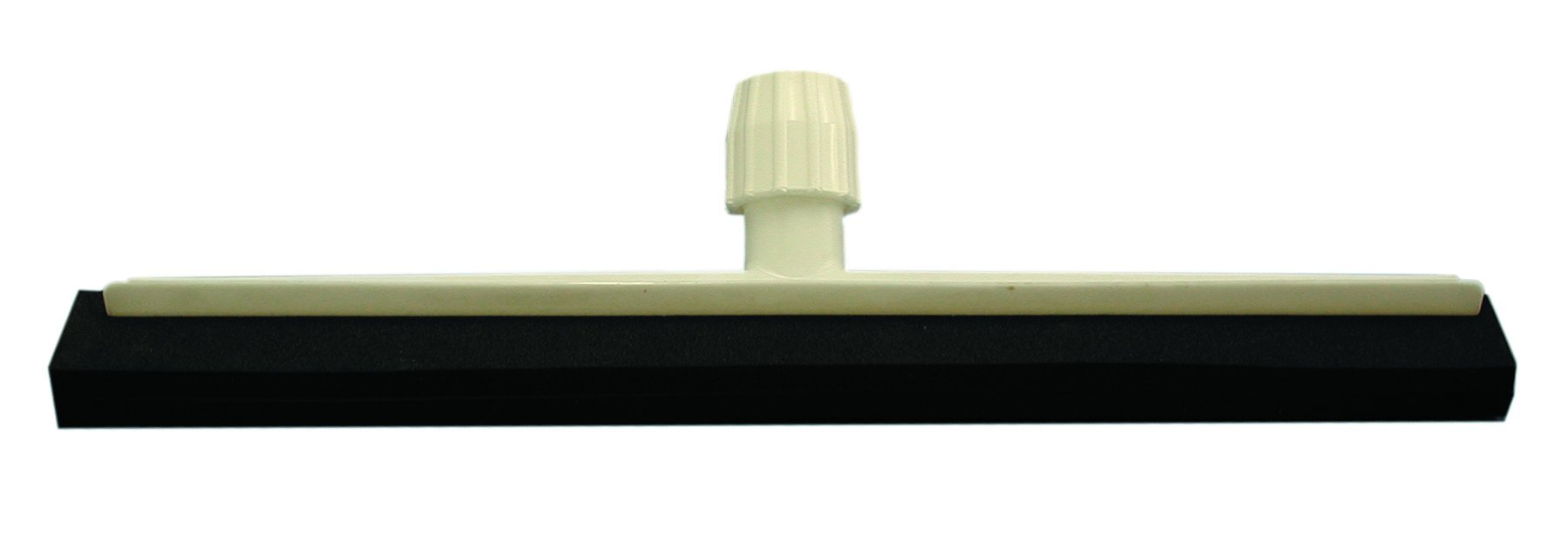 Magnolia Brush 8922 Soft Foam Rubber/Double Edge Plastic Frame Squeegee with Tapered/Square Socket, 22'' Length x 2'' Width, Black (Case of 10)