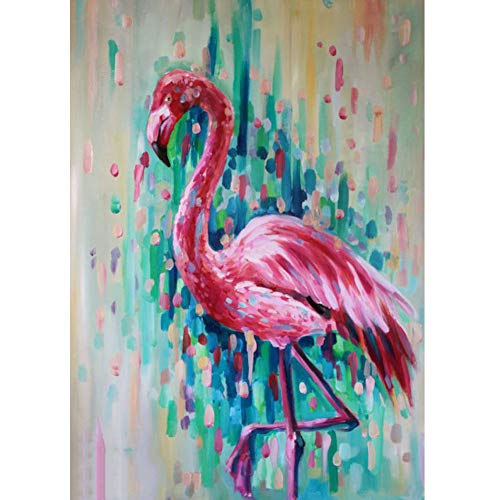 DIY 5D Diamond Painting by Numbers Kits, Colorful Flamingo Animal Bird, Full Drill Rhinestones Paint with Diamonds Crystal Diamond Art (Crane)