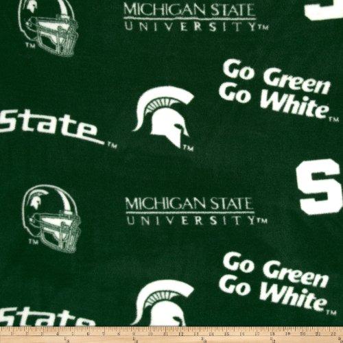 Sykel Enterprises Collegiate Fleece Michigan State University Fabric by The Yard, Multi ()