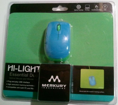 mini mouse and mouse pad combo - Neon blue mouse and green pad - Neon Blue Mouse Pad