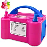 chamvis Electric Balloon Pump Dual Nozzle Inflator Blower for Balloon Column Stand, Party Balloon Arch Kit Decoration US Standard Plug 110V