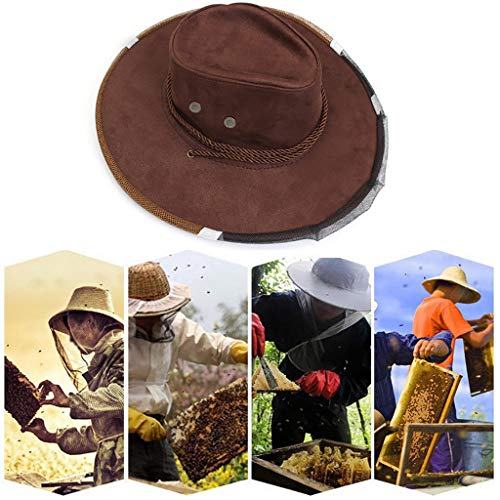 Bee hat ❤️Jonerytime❤️ Anti Bee Face Mask Hat Beekeeping Protector Cap Beekeeper Fly Insect Net Cowboy White
