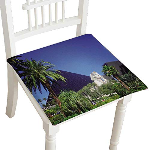 Chair Seat Pads Cushions Luxor Hotel Casino on Las Vegas Strip Square Car and Chair Cushion/Pad with Ties, Soft, for Indoors Or Outdoor 24