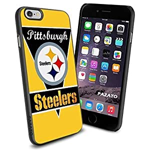NFL PITTSBURGH STEELERS Cool iPhone 6 Case Collector iPhone TPU Rubber Case Black