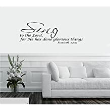 Psalm 84:2 Vinyl Wall Art My Soul Yearns Even Faints For The Courts Of The Lord My Heart And My Flesh Cry Out For The Living God Wall Decal Sticker Art Décor for Home Livingoom bedroom Office