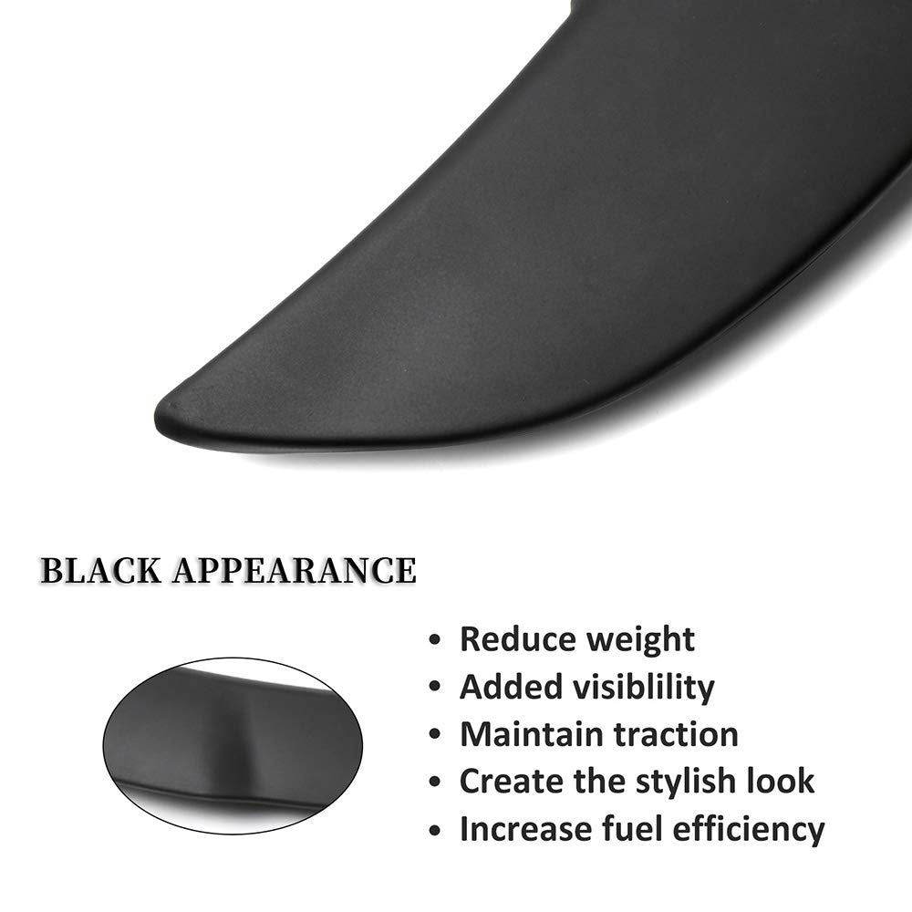 ECCPP ABS Rear Wing Spoiler Replacement fit for 2011-2018 Dodge Charger Hellcat Style SRT
