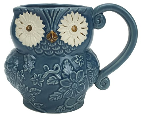 Hand-Painted Stoneware Owl Mug by Boston Warehouse