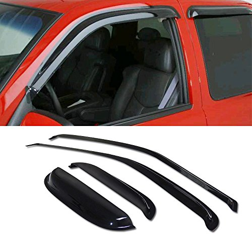 VIOJI 4pcs Dark Smoke Outside Mount Style Sun Rain Guard Vent Shade Window Visors Fit 95-04 Toyota Tacoma Access/Extended Cab With Half Size Rear Doors Only
