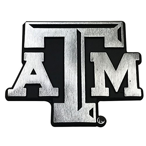 NCAA Collegiate Metal Auto Emblem (New Brushed Matte Style) (Texas A&M) ()