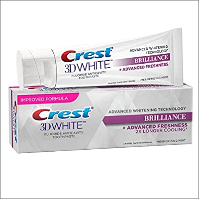 Crest 3D White Brilliance Mesmerizing Mint Teeth Whitening Toothpaste, 4.1 Ounce