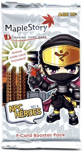 Maple Booster Pack - Maple Story NPC Heroes Series 4 Trading Card Booster Pack