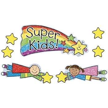 Amazon.com: Carson Dellosa Super Kids Job Assignment Bulletin Board ...