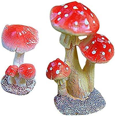 Qsoleil - Adorno de Resina con Forma de Seta para decoración de jardín: Amazon.es: Hogar