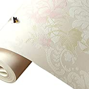 Wallpaper Non-Woven Wallpaper Rural Modern Style Flower Warm Bedroom Living Room Marriage Room Beauty Salon Wa