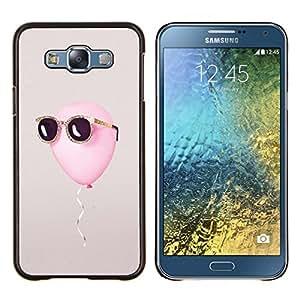 LECELL--Funda protectora / Cubierta / Piel For Samsung Galaxy E7 E700 -- libertad globo sol del verano gris fresco --