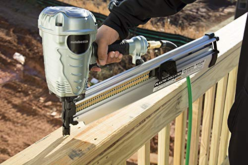 """Metabo HPT NR90AES1 21 Degree Pneumatic Framing Nailer, The Preferred Pro Brand of Pneumatic Nailers, Lightweight and Well-balanced, Easy Depth Adjustment, Accepts 2"""" to 3-1/2"""" Collated Framing Nails"""